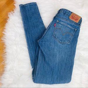 Levi's Premium 711 Skinny Jeans 25 Distressed